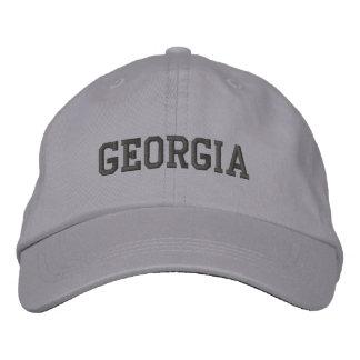 Georgia bordó gris fresco del casquillo ajustable gorra bordada