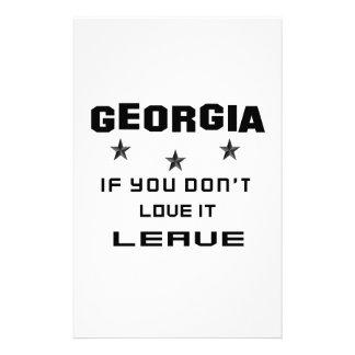 Georgia si usted no la ama, se va papeleria de diseño