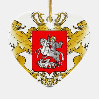 Georgia's_Large_Coat_of_Arms Adorno Navideño De Cerámica En Forma De Corazón