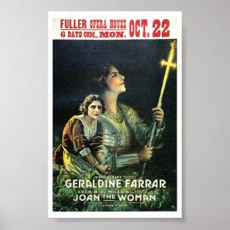 Geraldine Farrar Joan la película 1917 de la mujer Impresiones