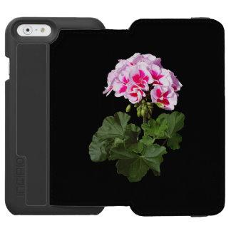 Geranio rojo y rosado funda cartera para iPhone 6 watson
