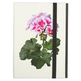 Geranio rojo y rosado funda para iPad air