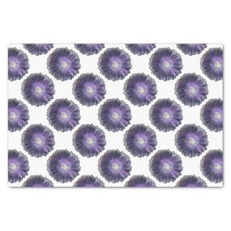 Gerbera púrpura de la lluvia papel de seda