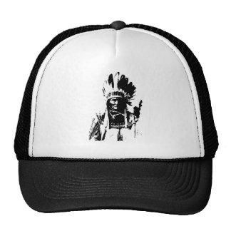 Geronimo negro y blanco gorros bordados