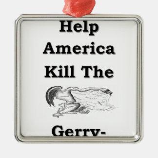 Gerry Adorno Navideño Cuadrado De Metal
