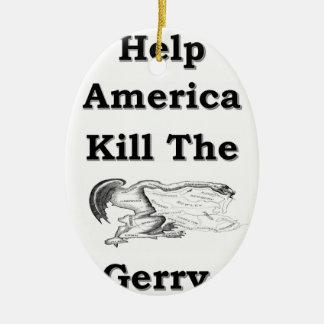 Gerry Adorno Navideño Ovalado De Cerámica