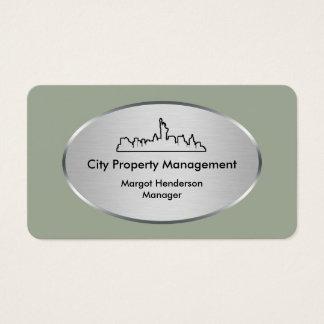 Gestión inmobiliaria moderna tarjeta de negocios