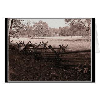 Gettysburg - tarjeta de nota del campo de batalla