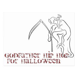 Gevatter/padrino/HIP HOP para Halloween Postal