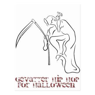 Gevatter/padrino/HIP HOP para Halloween Postales