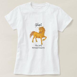Ghel la camiseta Oro-De cuernos del unicornio