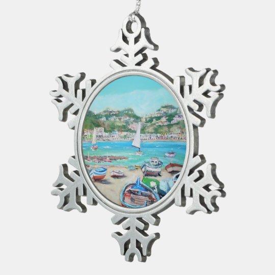 Giardini Naxos - ornamento del copo de nieve del Adorno De Peltre En Forma De Copo De Nieve