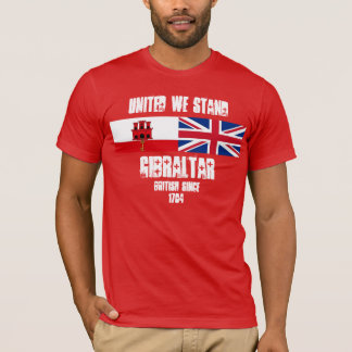 Gibraltar nos unió coloca diseño de la camiseta