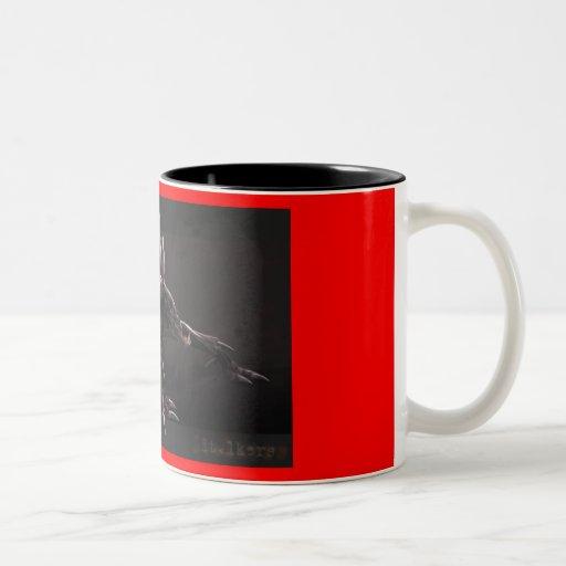 GIF loco del monstruo Tazas De Café