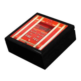 Giftbox la alarma de incendio joyero cuadrado grande