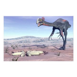 Gigantoraptor femenino que va a su jerarquía - 3D Papelería
