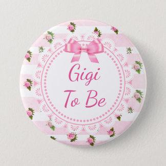 Gigi a ser rosas del rosa de botón de la fiesta de