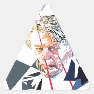 Gilbert Collard Pegatina Triangular