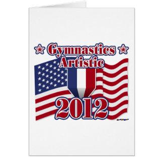 Gimnasia 2012 artística tarjeta de felicitación