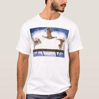 Gimnasia artística del perro del Corgi Galés Camiseta