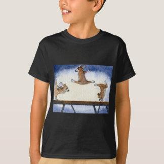 Gimnasia artística del perro del Corgi Galés Camisetas
