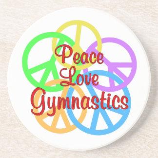Gimnasia del amor de la paz portavasos