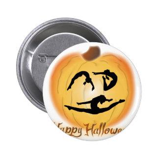 Gimnasia del feliz Halloween Chapa Redonda De 5 Cm