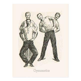 Gimnasia y ejercicio 1 postal