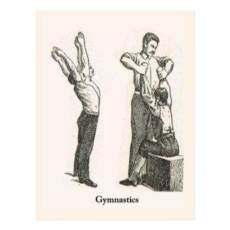 Gimnasia y ejercicio 2 tarjeta postal
