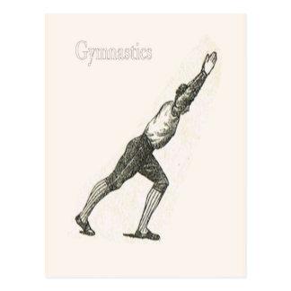 Gimnasia y ejercicio 5 tarjeta postal