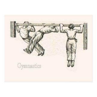 Gimnasia y ejercicio 8 tarjetas postales