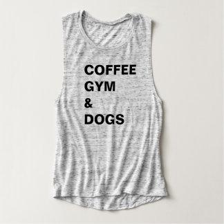 Gimnasio del café y camiseta de los perros