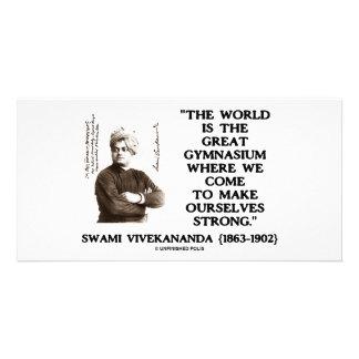 Gimnasio del mundo de Vivekananda del Swami gran Tarjeta Personal Con Foto