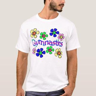 Gimnasta del flower power camiseta