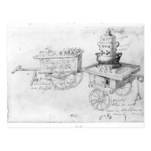 Gingerbeer y el vino caliente de la anciano atasca tarjeta postal