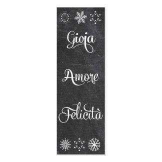 Gioa, amore, felicità - el navidad marca con tarjetas de visita mini