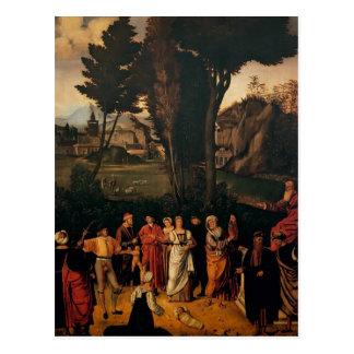 Giorgione- el juicio de Solomon Postal