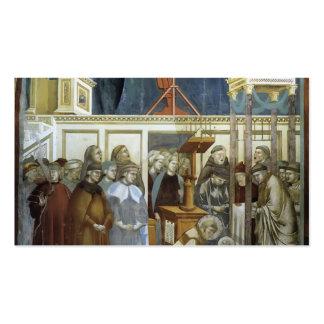 Giotto St Francis de Assisi que prepara el pesebr Tarjeta De Visita