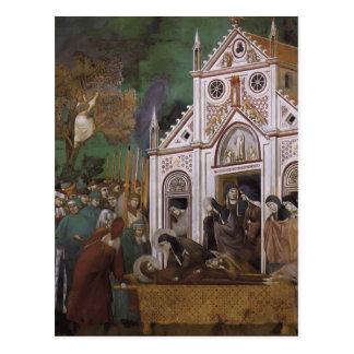 Giotto: St Francis estuvo de luto por St. Clare Postales