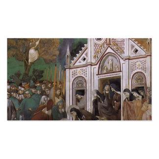 Giotto: St Francis estuvo de luto por St. Clare Plantillas De Tarjetas Personales
