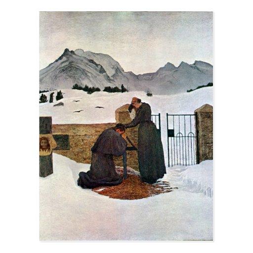 Giovanni Segantini - el dolor del luto Tarjeta Postal