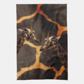 Giraffe_Colors, _ Paño De Cocina