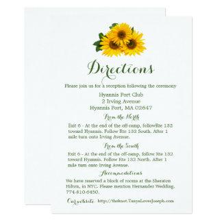 Girasol amarillo de los detalles florales de las invitación 12,7 x 17,8 cm