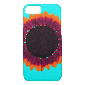 Girasol artsy y abstracto del otoño funda iPhone 7