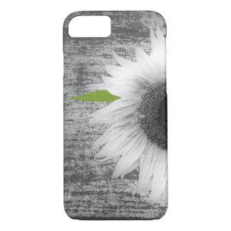 Girasol blanco y negro funda iPhone 7