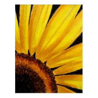 Girasol brillante - impresión en colores pastel postal