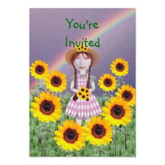 Girasol de Suzy Invitación 12,7 X 17,8 Cm