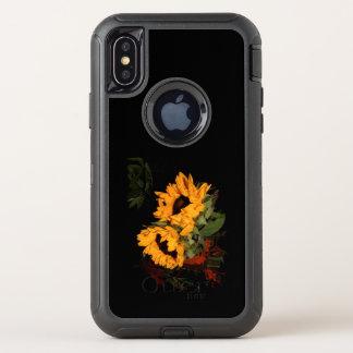 girasol del Otterbox Defender del iPhone X