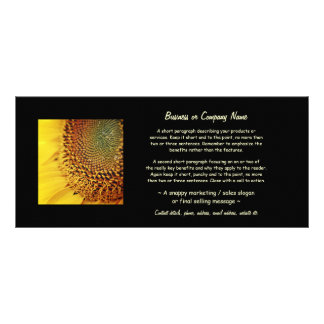 Girasol fresco y de oro tarjetas publicitarias a todo color