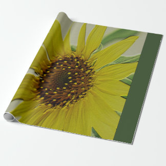Girasol grabado en relieve papel de regalo